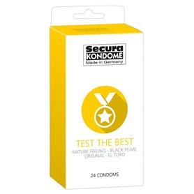 Kondomy Secura TEST THE BEST 24 ks