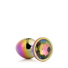 Anální šperk Dream Toys GLEAMING LOVE MULTICOLOUR PLUG medium