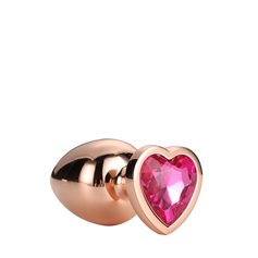 Anální šperk Dream Toys GLEAMING LOVE ROSE GOLD PLUG large