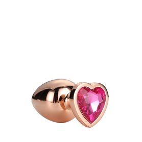 Anální šperk Dream Toys GLEAMING LOVE ROSE GOLD PLUG medium