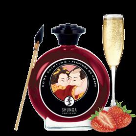 Barva na tělo SHUNGA BODY PAINTING Sparkling Strawberry Wine 100 ml