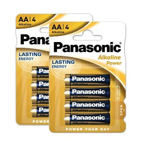 Baterie PANASONIC 8 ks alkalická tužková - AA