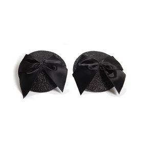 Lepítka na bradavky BIJOUX INDISCRETS BURLESQUE PASTIES BOW black