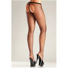 Punčocháče BeWicked Mesh Pantyhose With Open Back černé S-L
