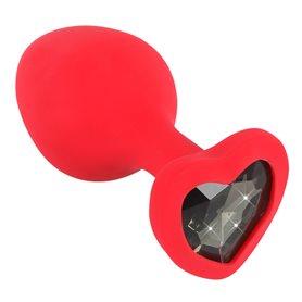 Kolík anální You2Toys Silicone Plug medium red
